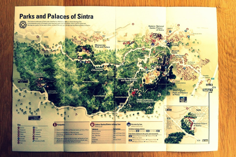 Map of the parks and palaces of Sintra ©MLVB