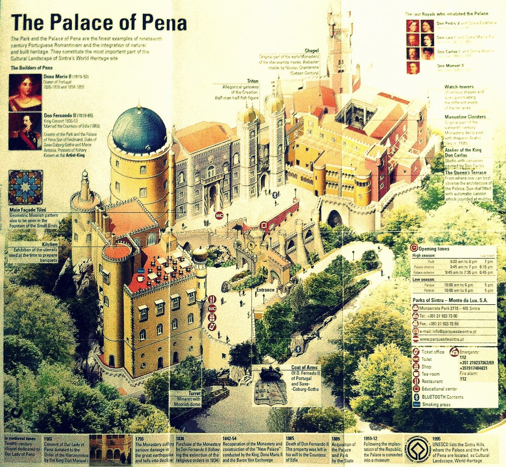 Map of Palácio da Pena ©MLVB