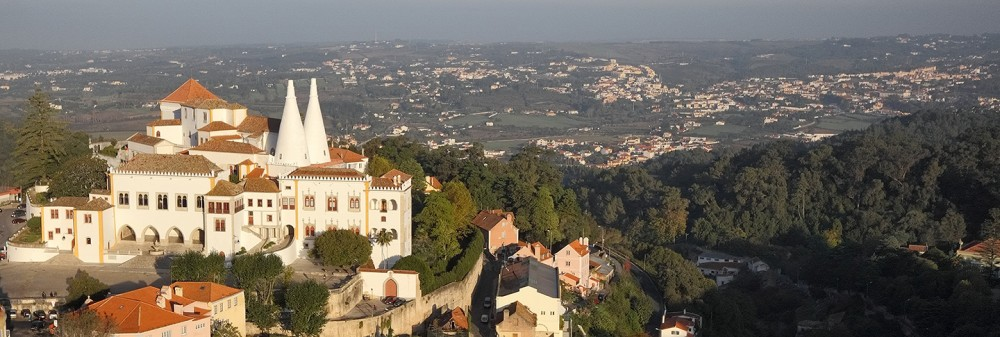 A bird's-eye view of Palácio Nacional de Sintra ©EMIGUS