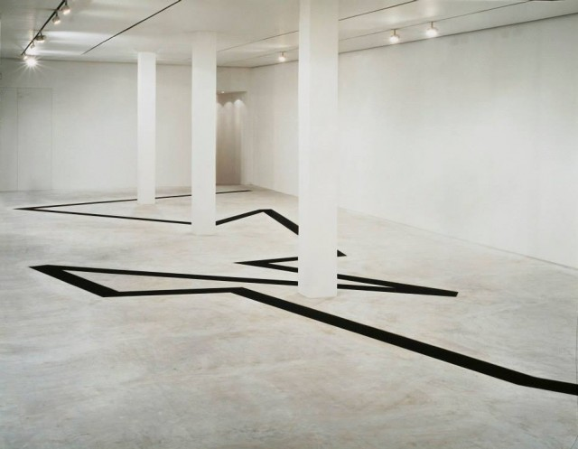 Photo of the work from Michael Heizer at Fondazione Prada in Milan