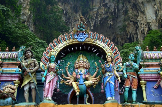 Various Gods in the Batu caves