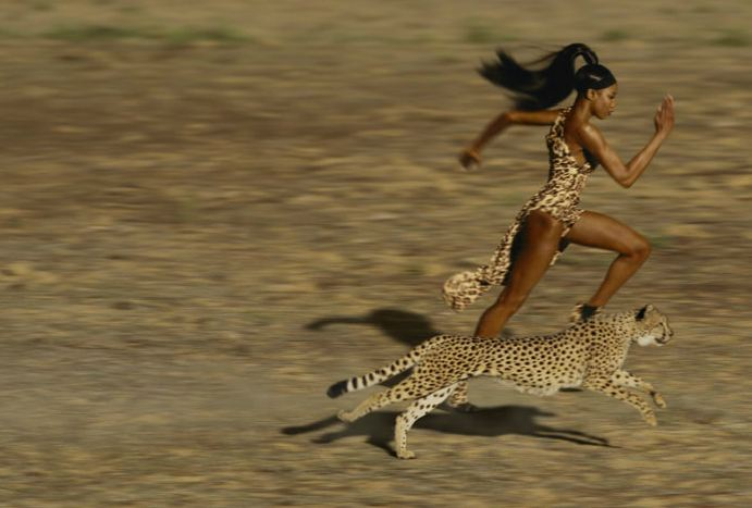 Naomi Campbell in Vogue @ Jean Paul Goude