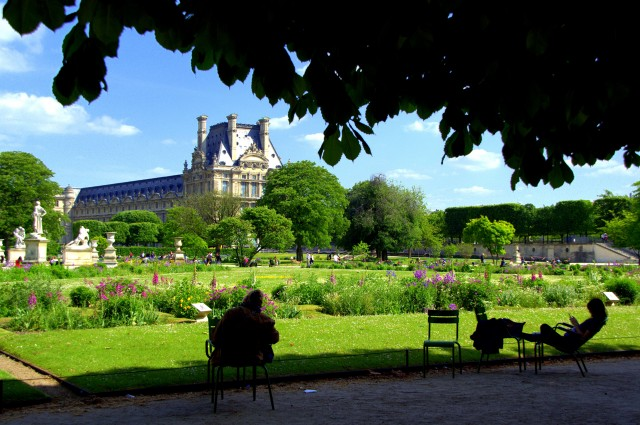 Reading in Jardin de Tuileries