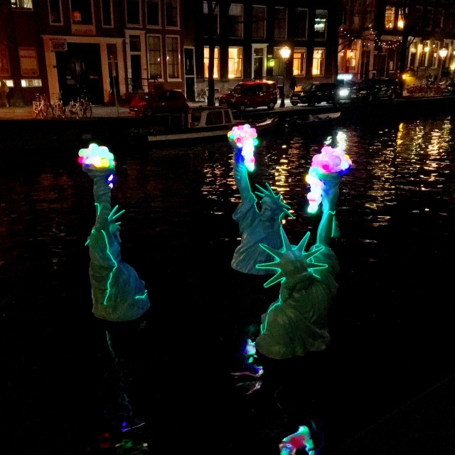 Freedom as a valuable friend Amsterdam Light Festival