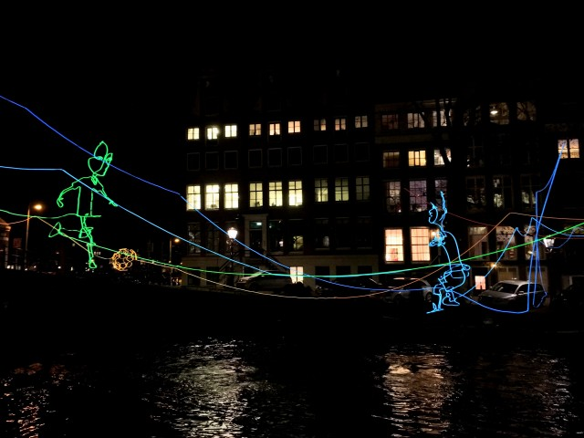 Paths Crossing Amsterdam Light Festival