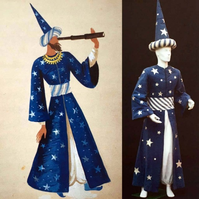Astrologer costume design for the legend of the almond blossom ballet